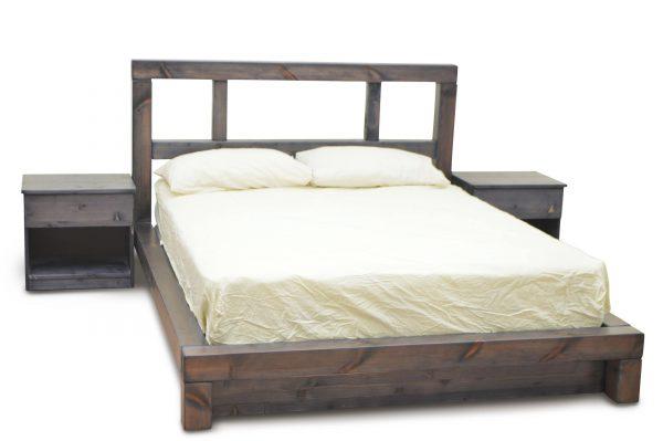 מיטה זוגית  מעץ מלא אלמוג פלוס 2