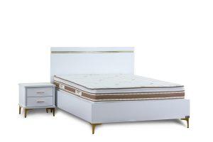 מיטה זוגית עם ארגז מצעים מוגבה דגם סנדי