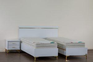 מיטה יהודית עם ארגזי מצעים דגם סנדי מוגבה לנקיון