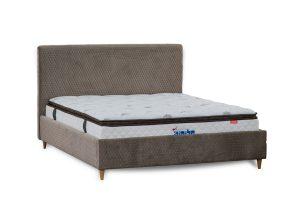 מיטה זוגית + ארגז  מרופדת דגם מתן