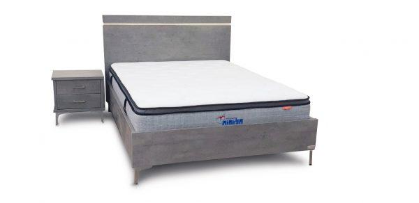 מיטה זוגית עם ארגז מצעים מוגבה דגם סנדי 2