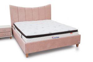 מיטה זוגית מרופדת דגם קשת