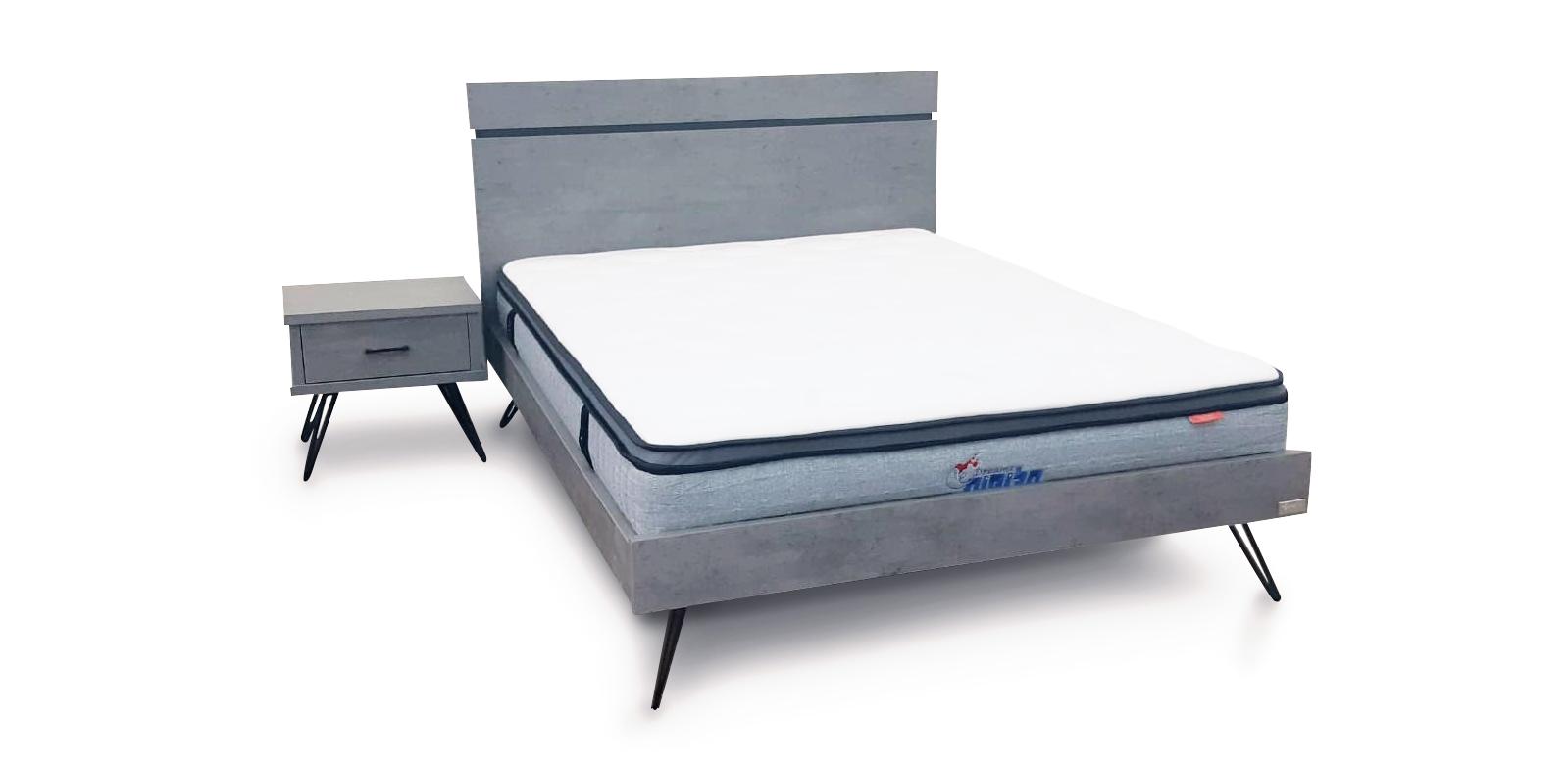 מיטה זוגית דגם סנדי רגל מעוצבת